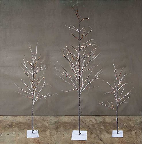 Snow & Berry LED Lighted Metal & Plastic Tree - 70.75in.