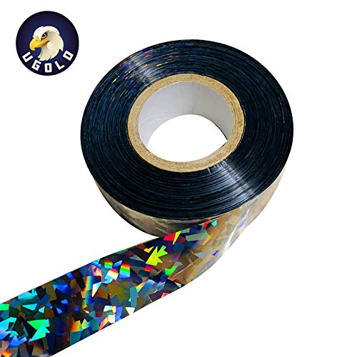 Ugold Bird Repellent Scare Tape Bird Repellent Ribbon - 1'' x 500 Ft (Silver)