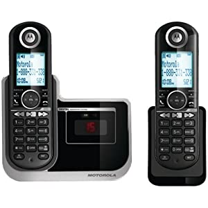 Motorola DECT 6.0 Enhanced Cordless Phone with 2 Handsets and Digital Answering System L802