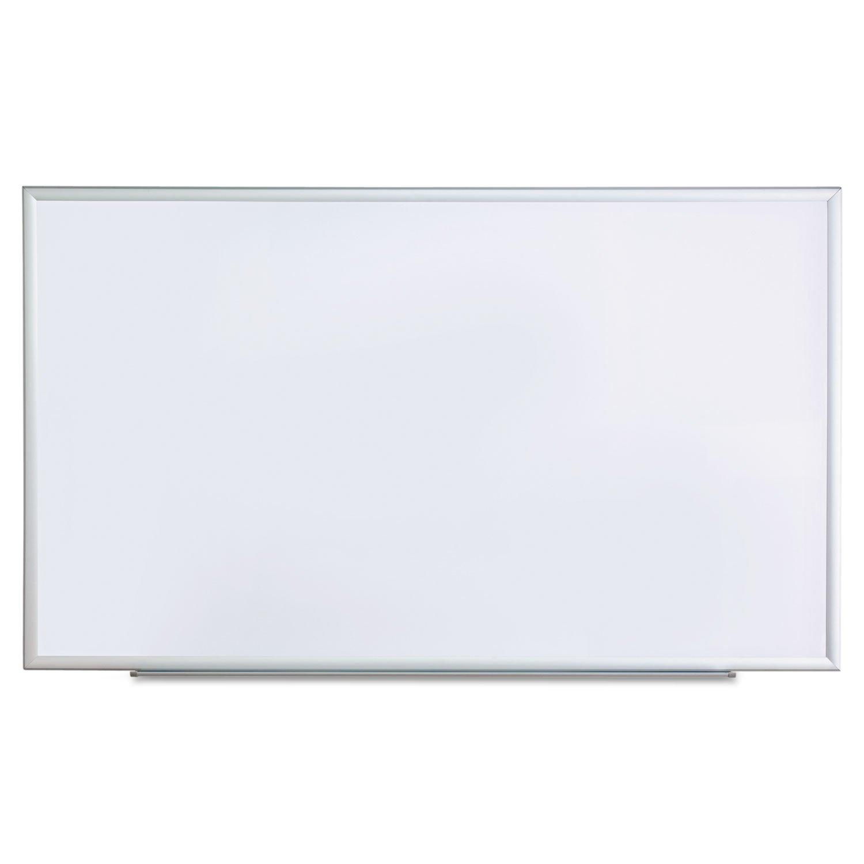 NEW - Dry Erase Board, Melamine, 60 x 36, Satin-Finished Aluminum Frame - 43625