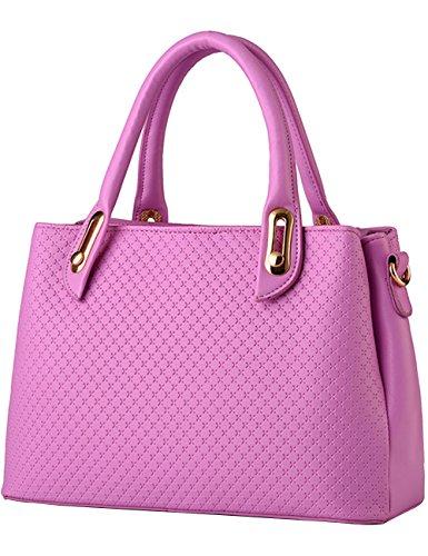 Pu Noir Sac Grand Ladies À Purse Purple Womens Menschwear Leather Bandoulière PAZwH