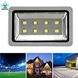 LuBao High Power 400W LED Flood Light,Super Bright Waterproof Cool White Spotlights Flood Lamp,120-Degree Beam Angle Wall Lights for Outdoor Court Parking Landscape Playground