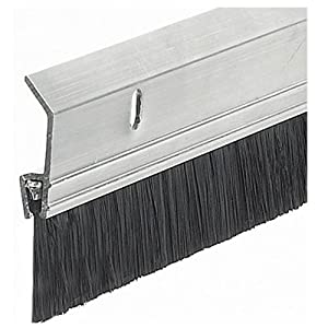 frost king sb36 2 x 36 extra aluminum brush door sweep silver thermwell products