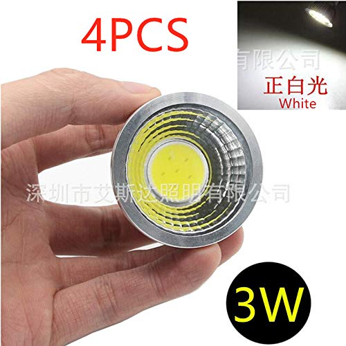 4PCS 3W GU5.3 COB LED Spotlight White Light Home Office Ceiling Decoration Lamp Bulb