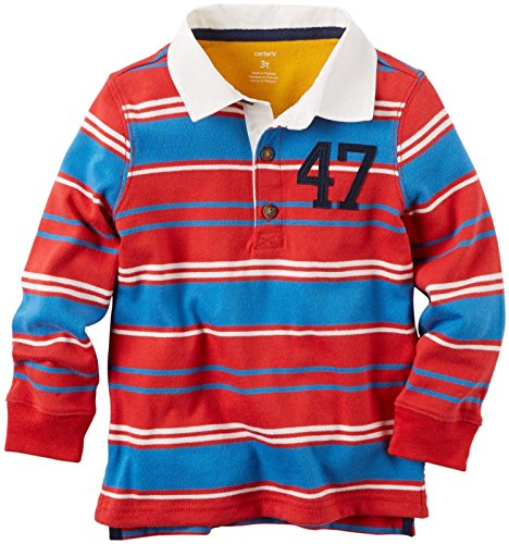 Carter's Baby Boys' Striped Rugby Shirt - Red - 12 Months