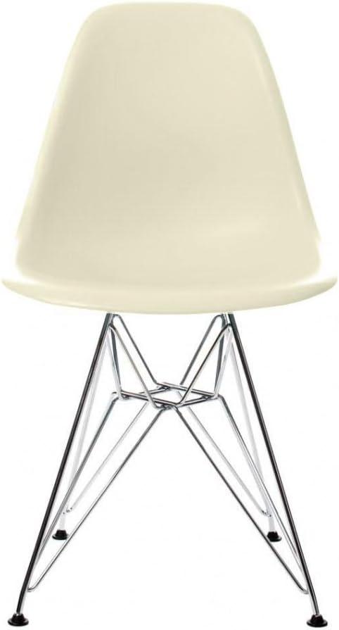Vitra Eames Plastic Side Chair DSR Stuhl, creme