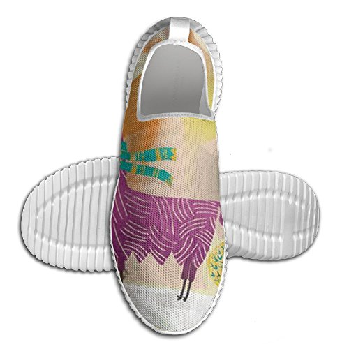 separation shoes 5cf80 fdd94 Llama Alpakka Sport Joggesko Mote Unisex Ventilasjon Tennis Loafers For Mam  Hvit