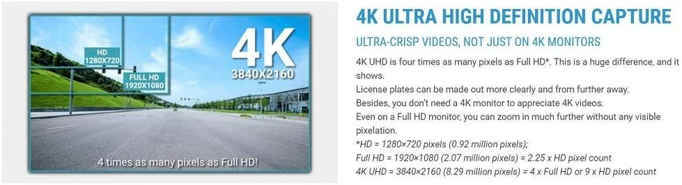 FULL HD CLOUD DASHCAM BLACKVUE BV-DR900S-2CH-16  16GB 4K UHD