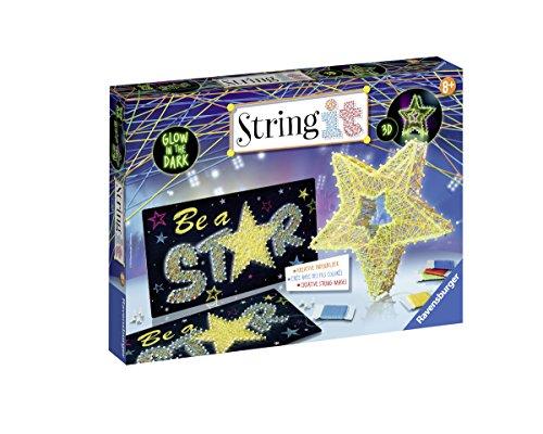 Ravensburger 18052 String It Maxi: 3D-Stars - Glow in The Dark
