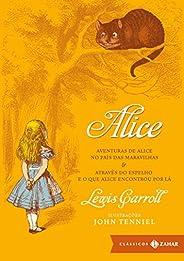 Alice: edição bolso de luxo (Clássicos Zahar): Aventuras de Alice no País das Maravilhas & Através do Espe