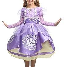 Kaifei Little Girl's Sophia Costume Little Princess Dress