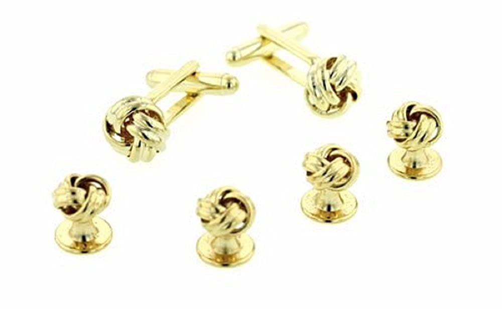 JJ Weston Love Knot Tuxedo Cufflinks and Shirt Studs. Made in the USA. RS-1011-SG
