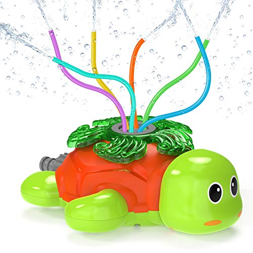 Kiztoys Outdoor Water Spray Sprinkler for Kids Turtle Yard Water Toy Sprinkler Toy Sprinkler Children Outdoor Lawn Sprinkler Toy Splashing Fun for Summer Days