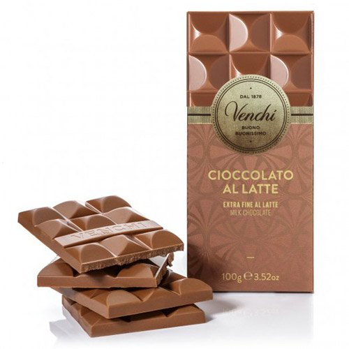 Venchi Italian Chocolate - Venchi Cuor di Latte Extra Fine Milk Chocolate Bar - 100g (100 gram)