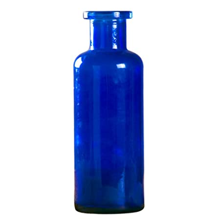 Outflower 1pc Blue Glass Vase Coloured Glass Vase Cylindrical
