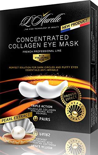 Under Eye Mask Depuffing Treatment Gold Collagen Eye Pads Pearl Extract Anti Aging Hyaluronic Acid Eye Gel Patches Moisturizing Reducing Dark Circles Korean Puffiness Wrinkles Crow's Feet Men Women