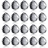 Neewer 20-Pack 1.75 inch/40mm Clear Crystal Ball Prism Pendant Suncatcher for Feng Shui/Divination or Wedding/Home/Office Decoration