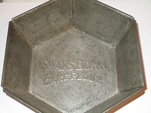 Antique Advertising Collectible Swans Down Cake Flour 6.5 inch Hexagon Cake Pan