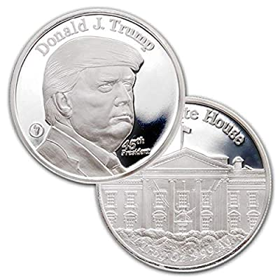 1 Troy Oz .999 Pure Silver Medal 45th President Donald Trump and The White House: Industrial & Scientific [5Bkhe2000878]