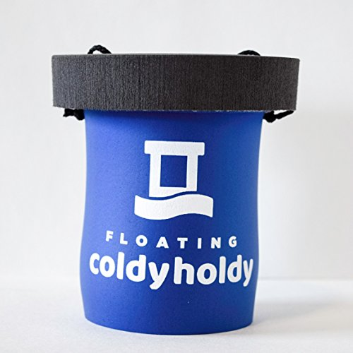 Can Floating Coldy Holdy - Floating Koozie for 12oz or 16oz standard aluminum cans (Blue) -
