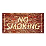CGSignLab | ''No Smoking -Ghost Aged Brick'' Repositionable Opaque White 1st Surface Static-Cling Non-Adhesive Window Decal (5-Pack) | 24''x12''