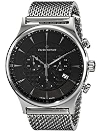 Claude Bernard Men's 10217 3M NIN Classic Dress Chronograph Analog Display Swiss Quartz Silver Watch