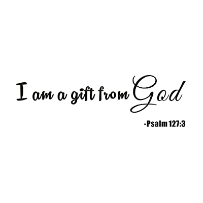 I'm a Gift from God Psalm 127:3 Home Kids Nursery Baby Room Boy Girls Bedding Mural Quote Vinyl Wall Sticker Decals Transfer Words Lettering Uplifting: Arts, Crafts & Sewing