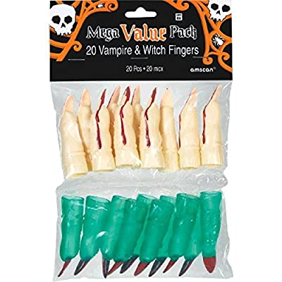 Halloween Witch and Vampire Plastic Finger: Toys & Games