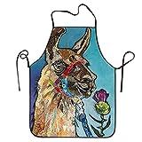 Llama Alpaca Aprons For Women/men Bib Save-all Barbecue Cooking Attitude Chef Apron