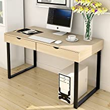 "Soges Computer Desk 47"" PC Desk Office Desk with Drawer Workstation for Home Office Use Writing Table, White 858-WCA-N"