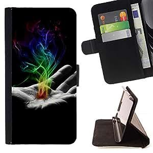 Momo Phone Case / Flip Funda de Cuero Case Cover - Mano de humo;;;;;;;; - Sony Xperia Z3 Compact