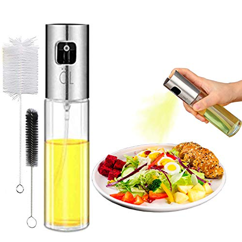 Olive Oil Spritzer Sprayer Bottle for Air Fryer Cooking Oil Mister for Vinegar Canola Vegetable Oil Portable Mini Kitchen Gadgets on BBQ/Pan/Salads/Baking