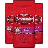 Community Coffee French Roast Extra Dark Roast Premium Ground 12 Oz Bag (3 Pack), Full Body Rich Robust Taste, 100% Select Arabica Coffee Beans