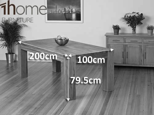 1home Full Solid Oak Dining Table Set Chunky Legs Room Furniture 200cm ( Table 8 Chairs): Amazon.co.uk: Kitchen U0026 Home