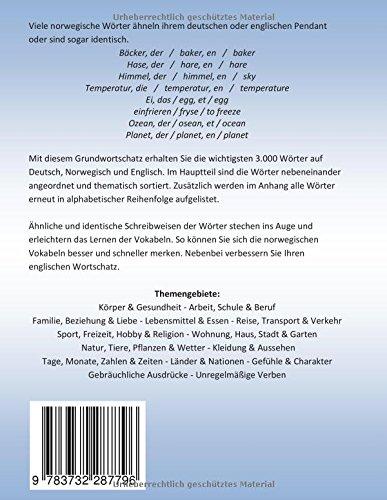 Grundwortschatz Deutsch - Norwegisch - Englisch: Die Wichtigsten