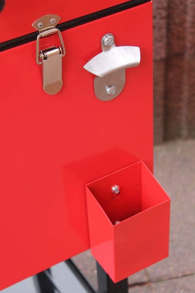 Dreams4Home Kicksi - Nevera con diseño Retro (69 x 37 x 83 cm), Color Rojo: Amazon.es: Jardín