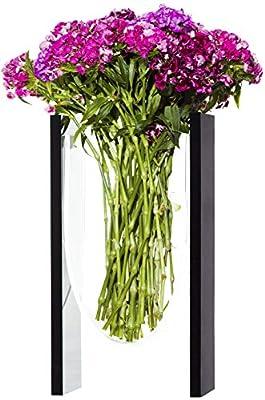 "TEHILA Collection Flower Vase 13.5"" x 7.5"" x 3.5"" Lucite, Decorative, Modern Design"