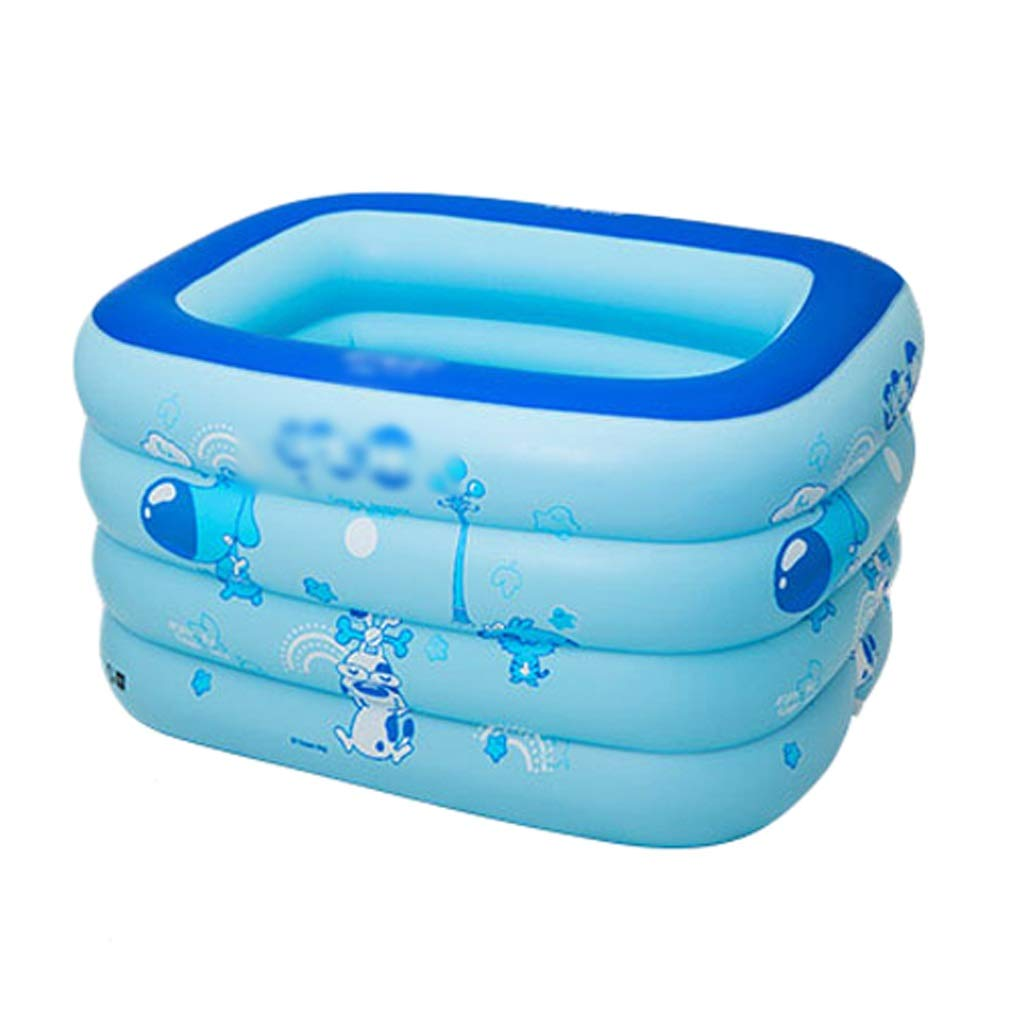 Inflatable bathtub ZHAOSHUNLI Swimming Pool Children Baby Baby Family Swimming Bucket Marine Ball Pool Toy Insulation (Color : Blue)