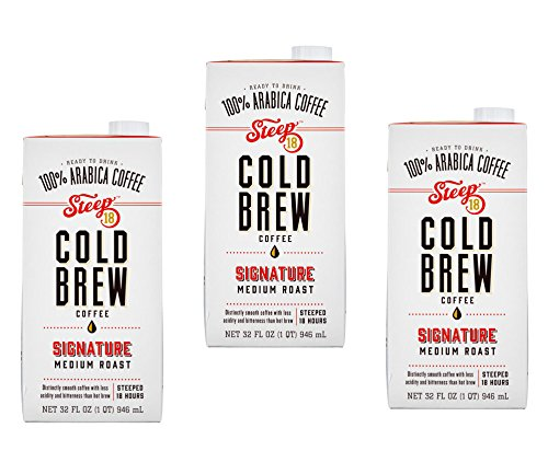 Steep 18 - Medium Roast Cold Brew Coffee - 3 Pack - Value Pack!
