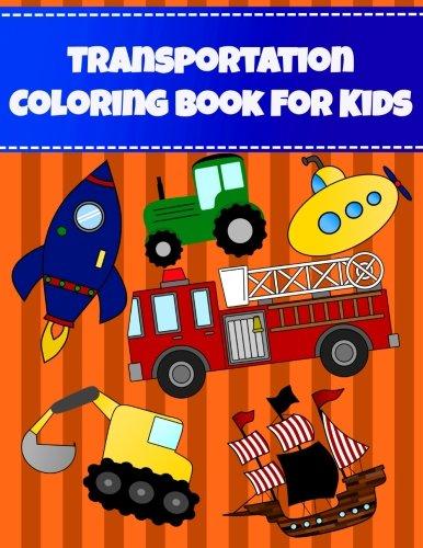 Transporte libro para colorear para niños: Big fácil grande globo de libro para colorear para niños y bebés....