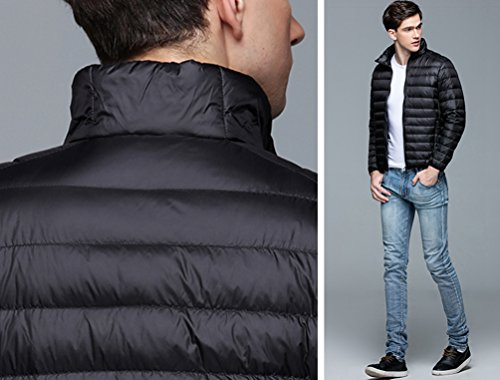 Down ZKOO Coat Outwear Black Winter Padded Lightweight Jacket Snow Warm Jacket Men's qttnFH1