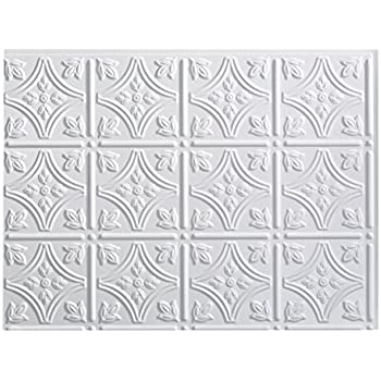 This Item Fasade Easy Installation Traditional 1 Gloss White Backsplash Panel For Kitchen And Bathrooms 18 X 24 Panel