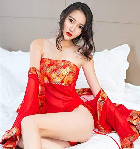Ropa Interior erótica de Mujer, Tang Dynasty concubina Sexy y Kimono, Atractivo, Ropa