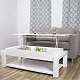 Cheap In the Mix Kayla White Lacquer Lift-Top Rectangular Coffee Table