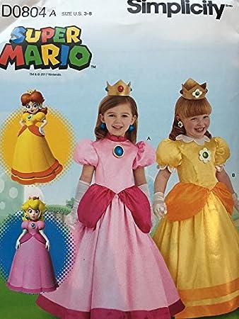 Simplicity D0804 Super Mario Princess Peach u0026 Rosalina Costume Pattern Girls ...  sc 1 st  Amazon.com & Amazon.com: Simplicity D0804 Super Mario Princess Peach u0026 Rosalina ...