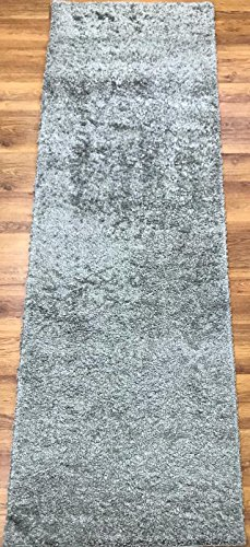 Antep Rugs Star Shaggy Collection Cozy Star Solid Polypropylene Runner Area Rug (Grey, 2′ x 8′) Review