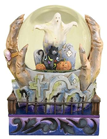 Jim Shore Halloween Is At Hand - Cool snow Globe