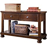 Ashley Furniture Signature Design - Porter Sofa Table - Rustic Style Entertainment Console Table - Rectangular - Brown
