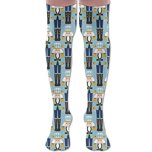 JJZ-sock Womens&Mens Nutcracker Ballet Cavalier Pattern Comfortable Elastic Knee High Socks Cotton Long Knee-high Socks Athletic Sock One Size Buy Nutcrackers Online