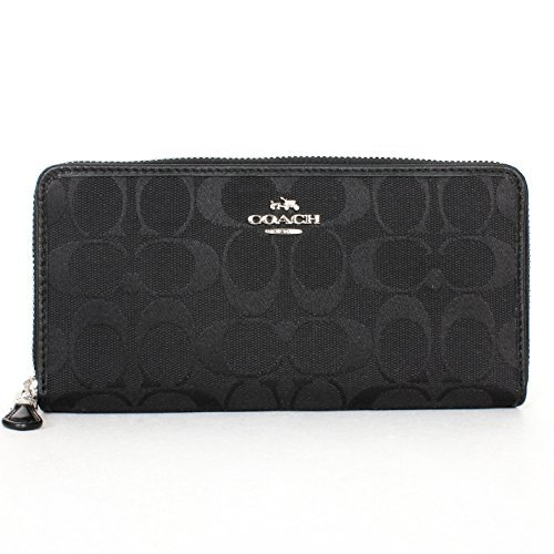 Coach 12CM Signature Accordion Zip Wallet 53618 by Coach
